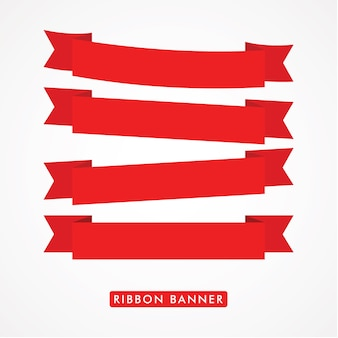 Ribbon banner logo