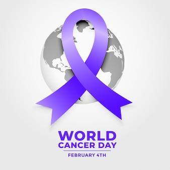 Ribbposter del día mundial del cáncer