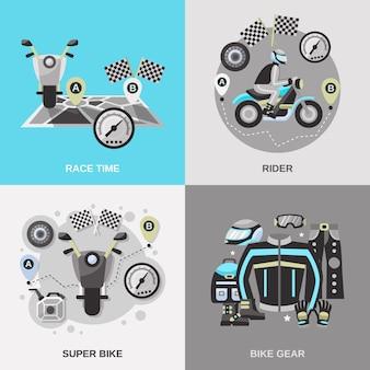 Rider conjunto plano