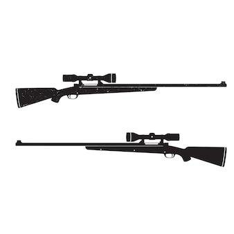 Rifles de caza con mira óptica, con textura grunge