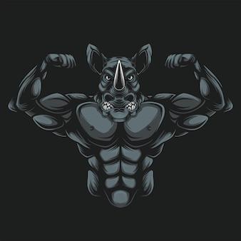 Rinoceronte musculoso