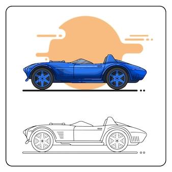 Roadster car fácil editable