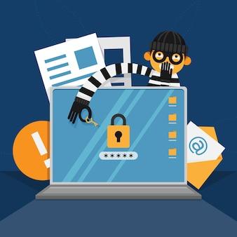 Robar el concepto de ciberataque de datos