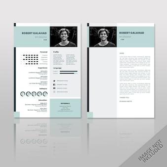 Robert blue a4 currículum 2 páginas
