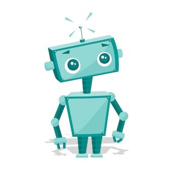 Robot de dibujos animados lindo