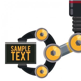 Robot de diseño digital.