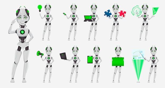 Robot con inteligencia artificial, bot femenino