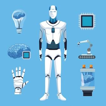 Robot con inteligencia artificial.