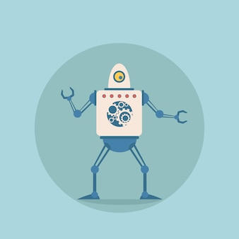 Robot moderno, mecanismo de inteligencia artificial futurista.