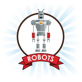 Robots tecnología ciencia futuro banner