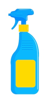 Rocíe la botella de detergente de plástico limpiador de pistola en blanco
