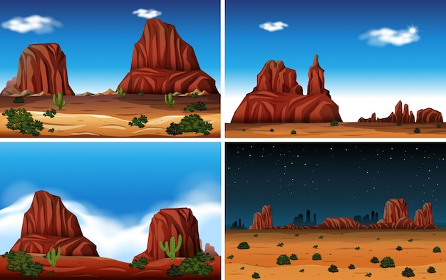 Rock mountain y desert scene