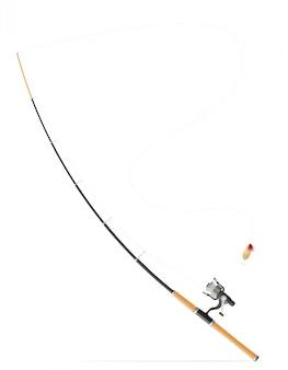 Rod girando para la pesca ilustración vectorial