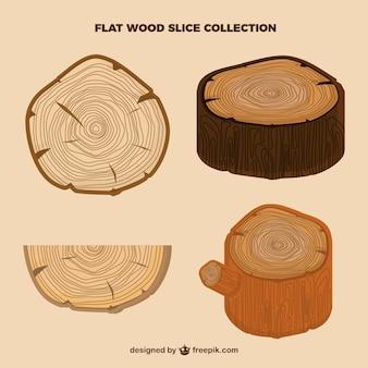 Rodajas de árbol, estilo flat