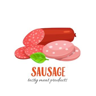 Rodajas de salchicha y salami