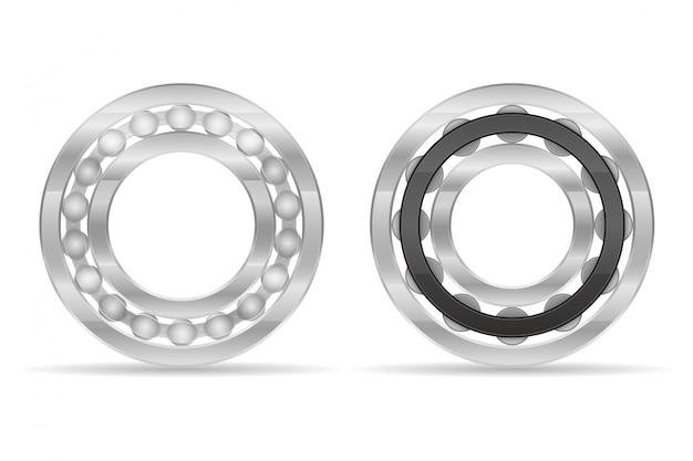 Rodamiento de bolas y rodillos de metal