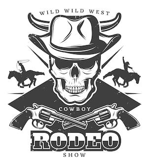 Rodeo del salvaje oeste vintage