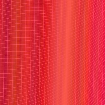 Rojo dinámico resumen geométrico rejilla de fondo - diseño gráfico vectorial de rayas angulares curvas