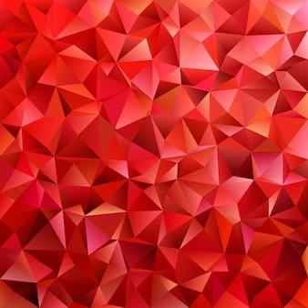 Rojo oscuro geométrico triángulo abstracto patrón de fondo - polígono gráfico vectorial de triángulos de colores