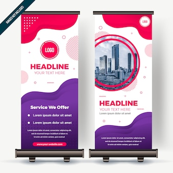 Roll up banner con colorfull degradado