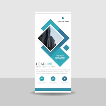 Roll up banner creativo elegante