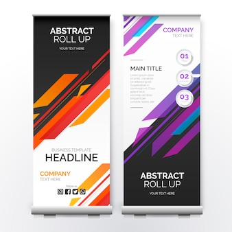 Roll up banner con formas modernas
