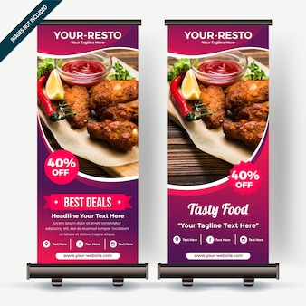 Roll up banner con gradiente de colores