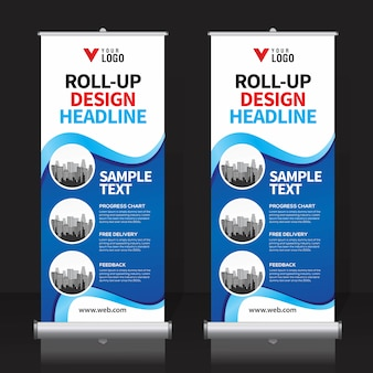 Roll up banner plantilla de diseño