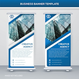 Roll up banner plantilla de diseño