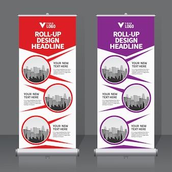 Roll up banner set