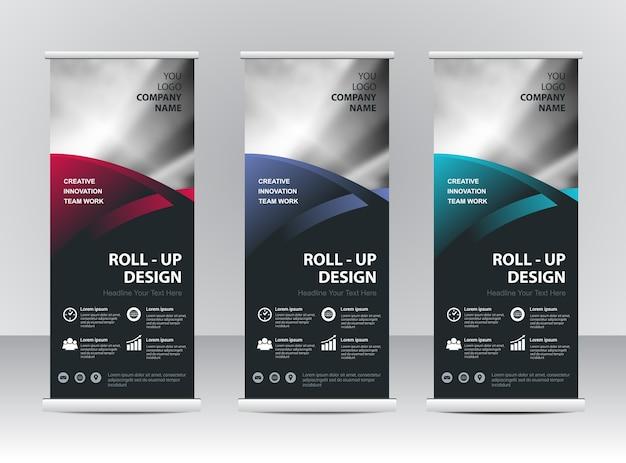 Roll up banner stand plantilla de diseño