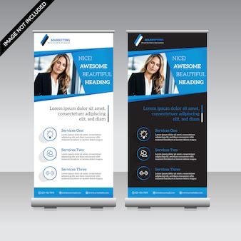 Roll up corporativo banner premium vector
