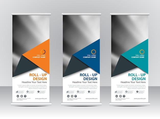 Roll up diseño de plantilla de stand de banner