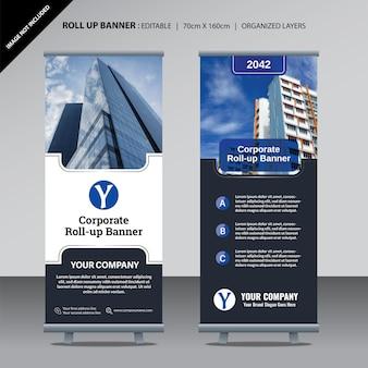 Roll up plantilla de diseño para el negocio corporativo