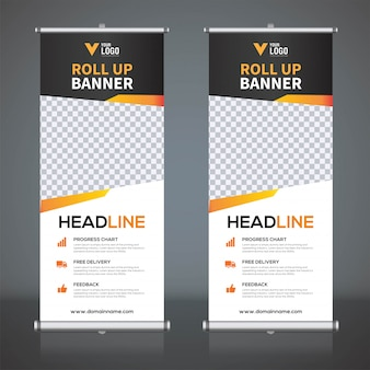 Roll up plantillas de diseño de banner