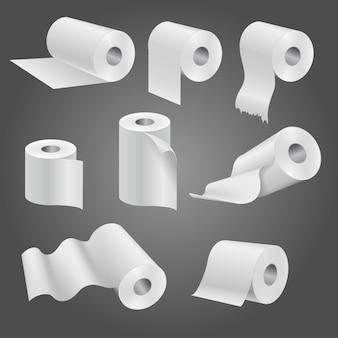 Rollo de papel higiénico para baño y baño.