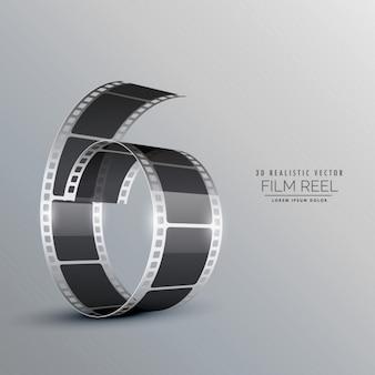 Rollo de película 3d realista
