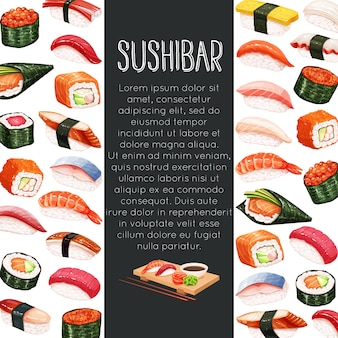 Rollo de sushi japonés