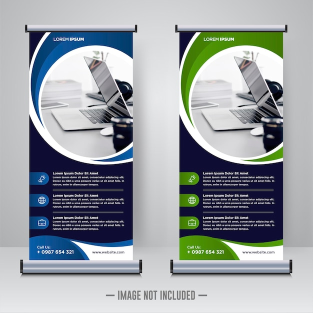 Rollup corporativo o plantilla de diseño de banner x