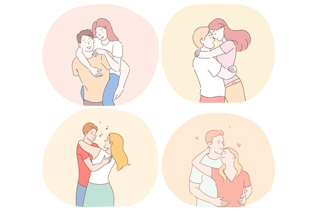 Romance, amor, citas, relación, concepto de unión.
