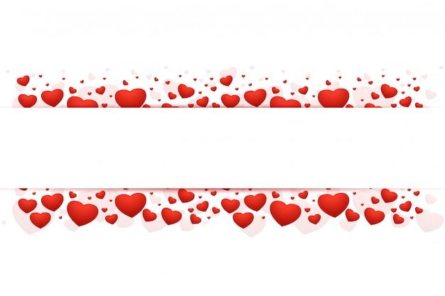 Romántico marco hermoso de san valentín