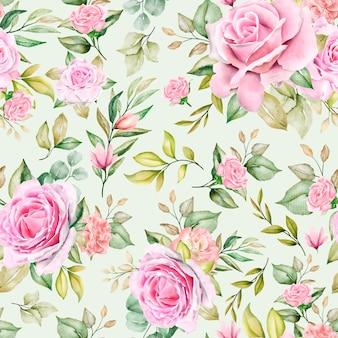 Romántico patrón floral sin fisuras