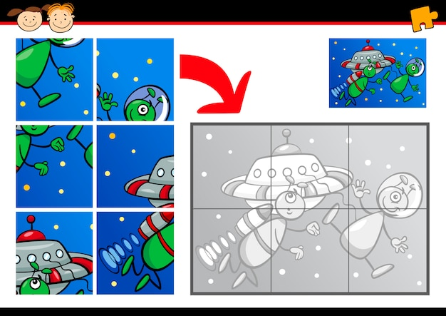 Rompecabezas de dibujos animados extranjeros juego