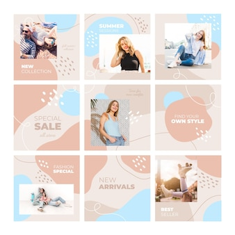 Rompecabezas de instagram modelo femenino casual feed