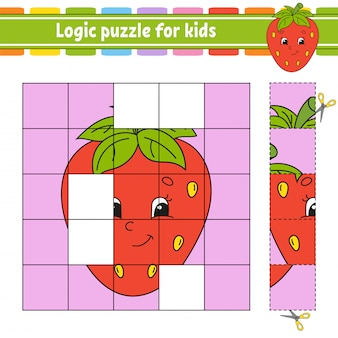 Rompecabezas de lógica para niños.