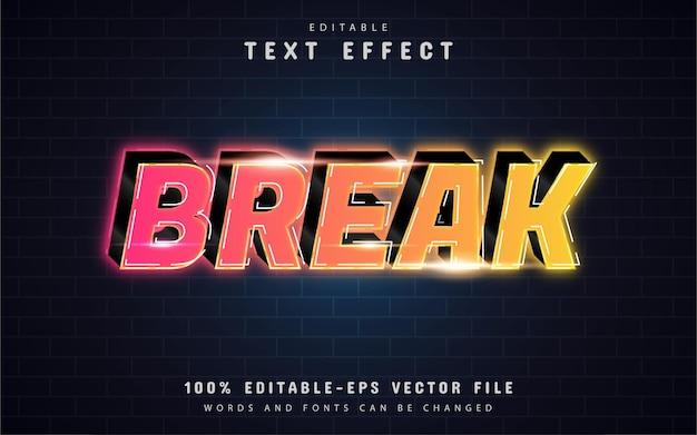 Romper el efecto de texto con degradado