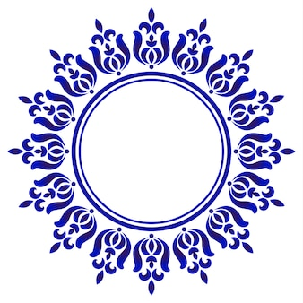 Ronda ornamental azul
