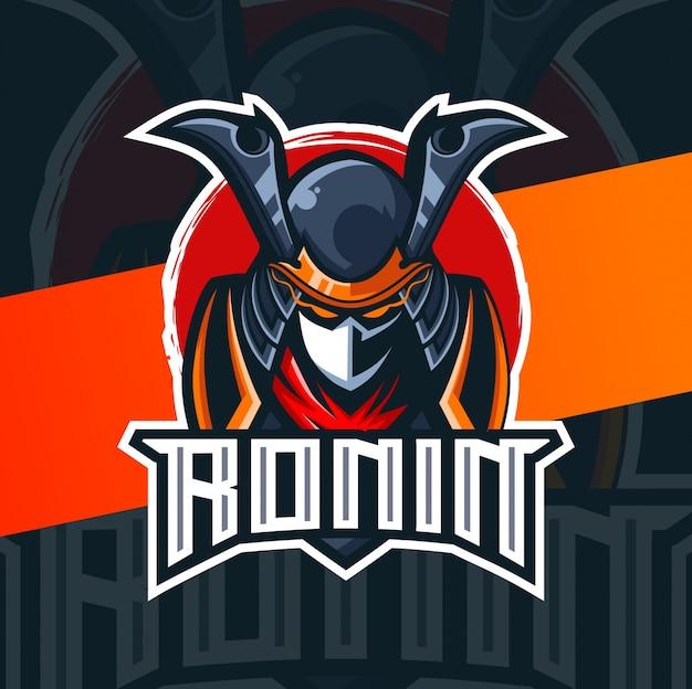 Ronin samurai mascota esport logo