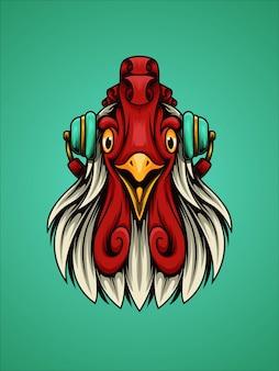 Rooster listen music