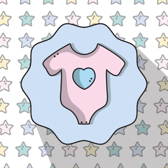 Ropa de bebé pijamas con diseño de fondo de estrellas